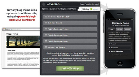 WpMobilePro - MobileOptimizer WordPress-Plugin - Optimize Any Blog for Mobile Smart Phones in One Plugin! | Mobile (Post-PC) in Higher Education | Scoop.it