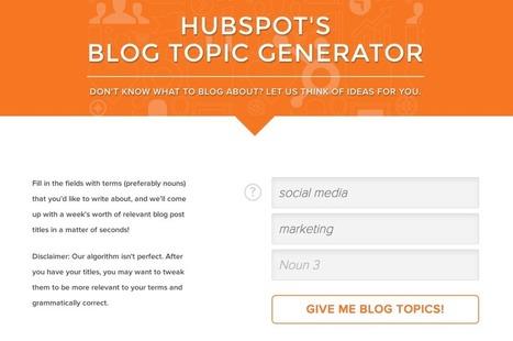 Suffering from writer's block? Let Hubspot help! | HR MALL ( HR DOCUMENT | | Scoop.it