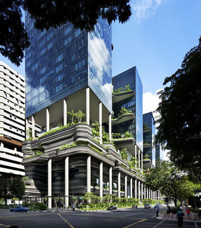 "Singapore hotel covered with plants wa ""inspired by rock formations"" 