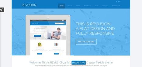 28+ Lovely Responsive Flat WordPress Themes   Web Design   Scoop.it