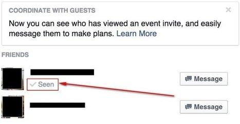 Facebook incorpora las confirmaciones de lectura en Eventos   Kimera ideas y marketing   Scoop.it