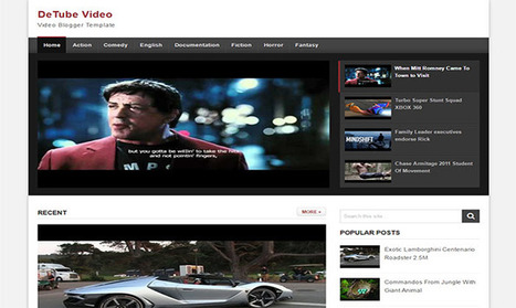 Detube Blogger Template | Blogger themes | Scoop.it