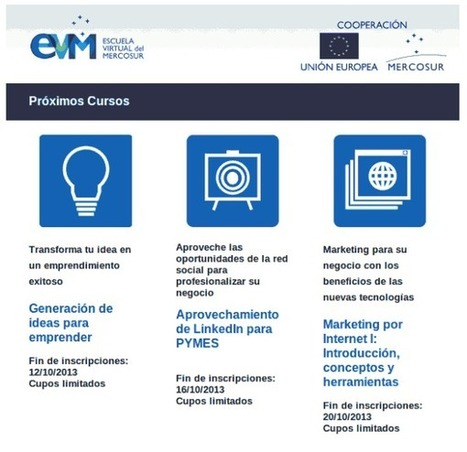 Nuevos cursos online gratuitos en la Escuela Virtual Mercosur | orientar-e | Scoop.it