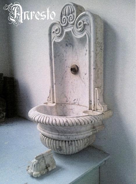 Anresto antiek Muurfonteintje carara marmer 1790 Barokstijl | Antiek Antique | Scoop.it