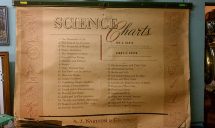 One Of A Kind 18 Page Vintage Science Chart Set by AJ Nystrom Flip Chart HUGE Like Pull Down School Map Illustrated Machines Biology Botony | Nerdy Needs | Scoop.it