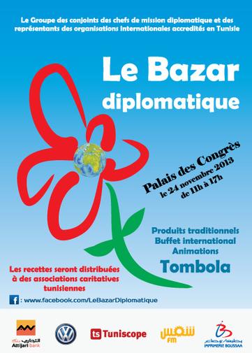Culture et artisanat solidaires : Le Bazar diplomatique, le 24 novembre 2013 à Tunis | Patrimoine et Artisanat Tunisien | Scoop.it