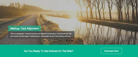Dazzling: A Free Flat Design WordPress Theme Based on Bootstrap | Website Design | Scoop.it