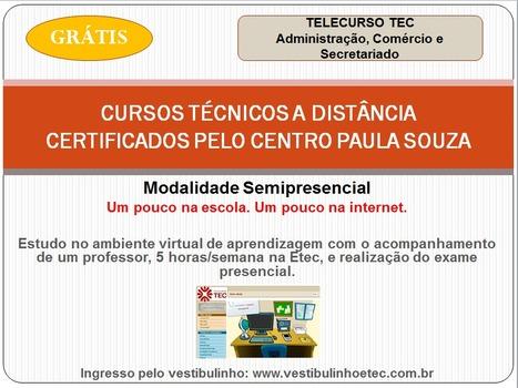 CURSOS TÉCNICOS GRATUITOS SEMIPRESENCIAIS   Telecurso TEC   Scoop.it