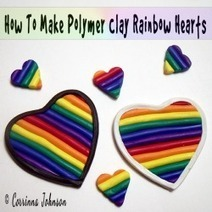 How To Make Polymer Clay Rainbow Hearts | Crafty Kids | Scoop.it