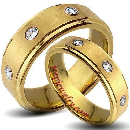 Wholesale Goldplated Tungsten Carbide Cubic Zirconia His and Her Wedding Band Set - $ 7.90 : Tungsten Jewelry | How to choose an ideal jewelry for your lover | Scoop.it