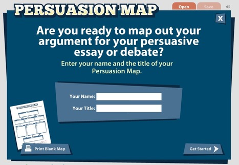Persuasion Map: A interactive graphic organizer | UDL & ICT in education | Scoop.it
