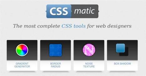 CSS Matic | Crea hojas de estilo en segundos, de forma visual | TIC y Educacion Moron | Scoop.it