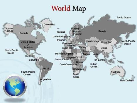Download World Map Power point Presentation Slides | PowerPoint Maps | Scoop.it