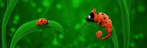 Ladybug and Chameleon Twitter Header Cover | Twitter Headers | Scoop.it