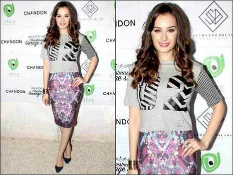 Evelyn Sharma At Christmas Garage Sale, In Printed Purple Skirt | Celebrity Fashion Trends | Scoop.it