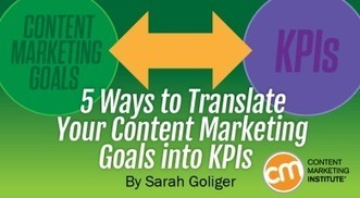 5 Ways to Translate Your Content Marketing Goals into KPIs | Content Marketing News | Scoop.it