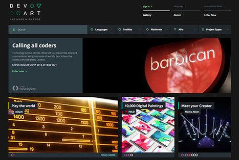 IL Y A 2 ANS ... Google et le Barbican Centre lancent Devart, un nouveau concours d'art numérique | Clic France | Scoop.it