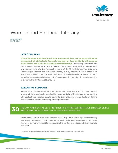 ProLiteracy - News and Events - Archived News | Financial Literacy | Scoop.it