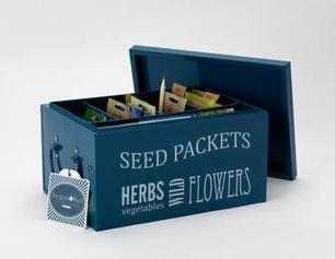 Burgon & Ball Seed Packets Organiser petrol blue - The Greenhouse People | Greenhouse Gardening Equipment & Tips | Scoop.it