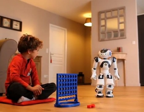 Nao le petit robot humanoïde joue au Puissance 4   Des robots et des drones   Scoop.it