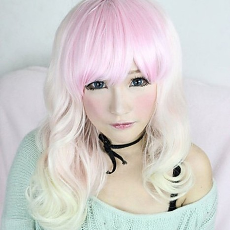 Lovely Vicky Cosplay Wig|Zipper White and Pink Mixed 55cm Cosplay Wig |Cosplay Lolita Wig|Lovely Vicky Zipper White and Pink Mixed 55cm Cosplay Lolita Wig | Cosplay Costumes | Lolita & Uniform Cosplay | Zentai Suits Cosplay | Scoop.it