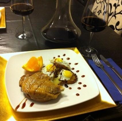 Confit de pato com pommes fondant, ovos de codorniz, duas geleias e a laranja salpresada | daCozinha | Foodies | Scoop.it