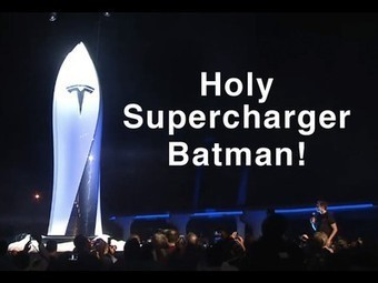 """Tesla Unveils its Supercharger Network: """"Drive for Free. Forever. On Sunlight."""" 