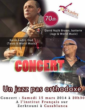 David Najib Brown, Karim Kadiri: Le jazz vu d'ici- 15 mars | Casablanca cultural life | Scoop.it