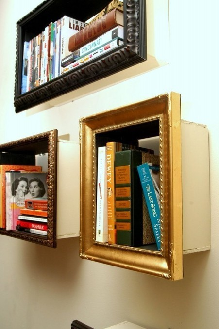 Photoframe bookshelves - Recyclart | Do it yourself projects | Scoop.it