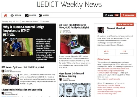 August 15, 2013: IJEDICT Weekly News is out | Modern Higher Education | Scoop.it