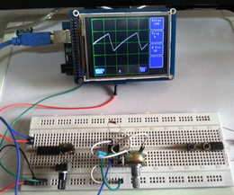 Make an Oscilloscope Using the SainSmart Mega2560 with the TFT LCD shield and the 3.5 color touch screen | Arduino&Raspberry Pi Projects | Scoop.it