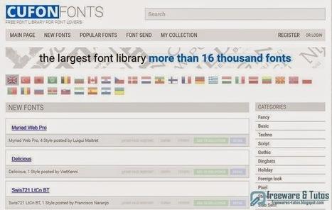 CufonFonts : des milliers de polices d'écriture gratuites | netnavig | Scoop.it
