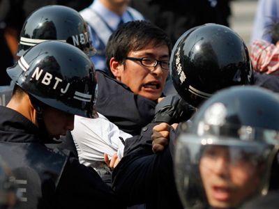 Chinese activists clash with police during protest over lethal chemical production (PHOTOS) — RT | Police Problems and Policy | Scoop.it