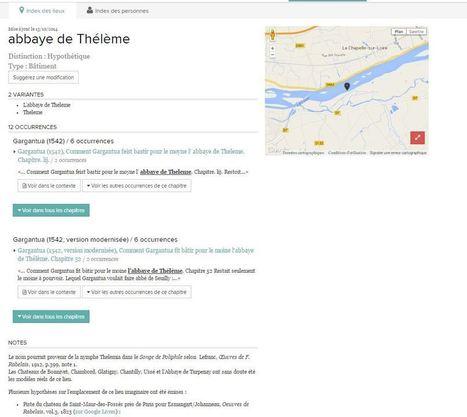 ReNom, cartographier Rabelais et Ronsard | Narration transmedia et Education | Scoop.it