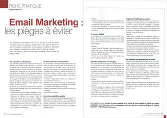 Email Marketing : les pièges à éviter (Magazine i-Entreprise) - Blog de Sarbacane Software - Toute l'information sur l'emailing | Email Marketing Francophone | Scoop.it