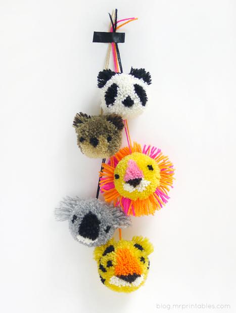 How to make animal pom-poms   Market Day Ideas   Scoop.it