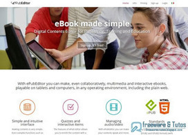 ePubEditor : un très bon service web pour créer des ebooks interactifs ~ Freewares & Tutos | techno louis digoin | Scoop.it