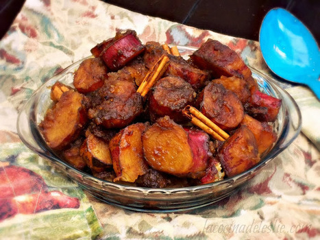 Camotes Enmielados (Mexican Candied Sweet Potatoes) #SundaySupper | postres | Scoop.it