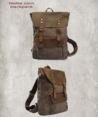 Cool leather and canvas backpack for hiking | personalized canvas messenger bags and backpack | Scoop.it