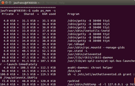 ps_mem Shows Programs RAM Usage in Linux | Embedded Systems News | Scoop.it