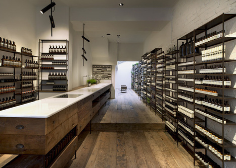 Aesop Islington - Reclaimed wood from French monastery | Industrial Furniture | Scoop.it