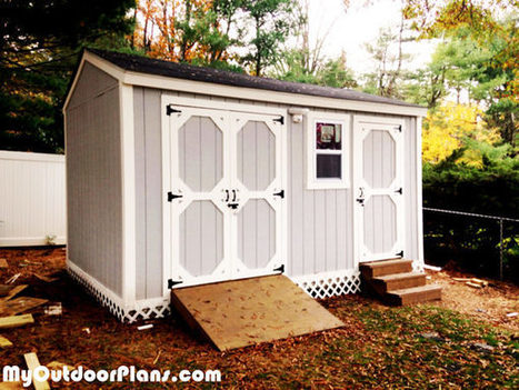DIY Backyard Storage Shed with Ramp and Steps | MyOutdoorPlans | Free Woodworking Plans and Projects, DIY Shed, Wooden Playhouse, Pergola, Bbq | Garden Plans | Scoop.it