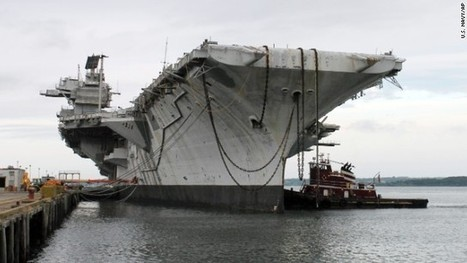 """Former Navy carrier on final voyage to a scrapyard in Texas!"" Why not an artificial reef and wreck diving site? :( 