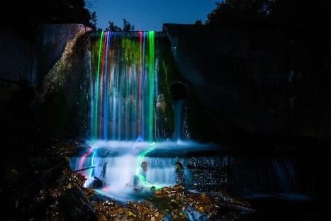 Surreal Long Exposures Taken with Glow Sticks in Waterfalls - My Modern Metropolis | Le It e Amo ✪ | Scoop.it