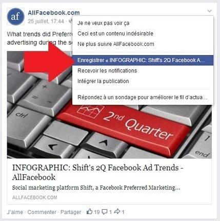 Facebook : ce que la nouvelle fonction «enregistrer» change pour les Community Managers | Médias sociaux & web marketing | Scoop.it