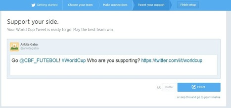 Twitter's World Cup Application hits the Goalpost!   Twitter News & Tools   Scoop.it
