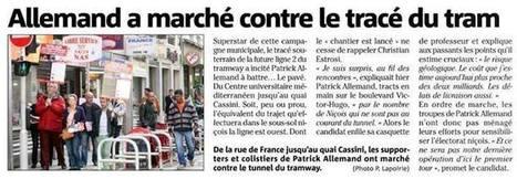Marche contre le souterrain de la Ligne 2 du Tramway   Nice 2014, Un autre Avenir pour Nice avec Patrick Allemand   Scoop.it