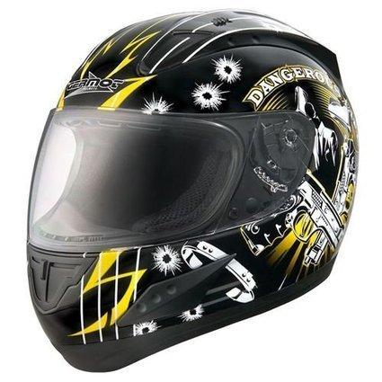 !!!   Integralhelm Germot GM 730 DANGEROUS LIFE schwarz-gelb (XS) | Integralhelme Günstig Kaufen | Scoop.it