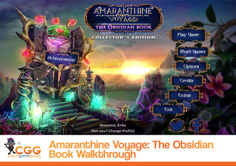 Amaranthine Voyage: The Obsidian Book Walkthrough: From CasualGameGuides.com | Casual Game Walkthroughs | Scoop.it