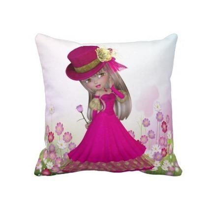Pretty Blond Girl Decorative Pillow , pillows   Adriane Designs   Scoop.it